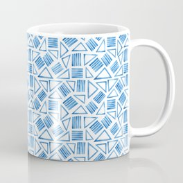 Modern Geometric Watercolour Triangles Coffee Mug