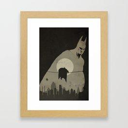 Arkham City Poster Framed Art Print