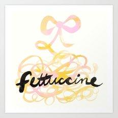 Fettuccine | 100 Days of Cookbook Spots Art Print