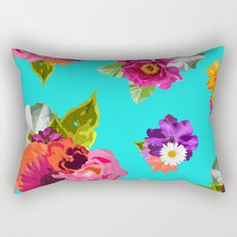 Bright Happy Flowers Rectangular Pillow