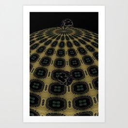 Unfitting Frame Orbitals 14 Art Print
