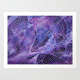 Purple Contours Art Print