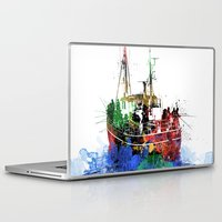 fishing Laptop & iPad Skins featuring Fishing by Viktor Andersson