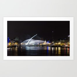 Reflections IV - Samuel Beckett Bridge Art Print