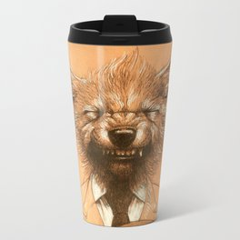 Young Wolf in a Suit Travel Mug