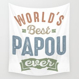 World's Best Papou Wall Tapestry