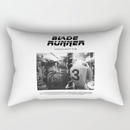Blade Runner Behind the Scenes Movie Poster Rectangular Pillow