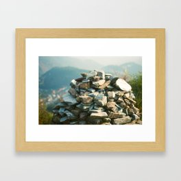 Tibetan Prayer Mound Framed Art Print