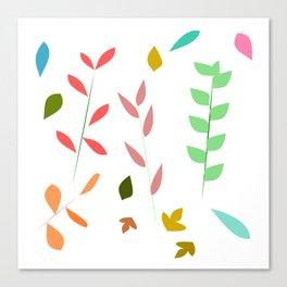 Colorful grasses Canvas Print