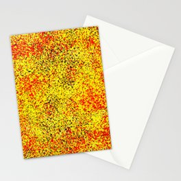 Flame - Abstract, red, yellow and black artistic representation of fire Stationery Cards