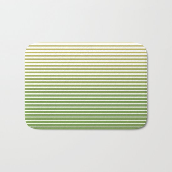 zen stripes Bath Mat
