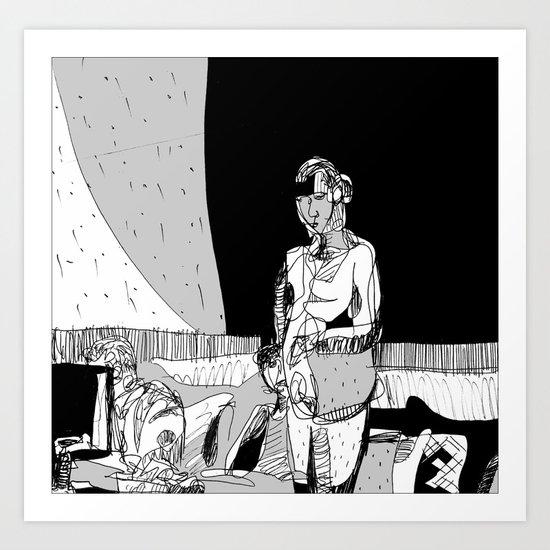 Portrait of EK Art Print