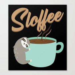 Sloffee | Coffee Sloth Canvas Print