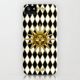 Golden Sun - Black & Gold Diamonds iPhone Case