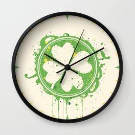 Patrick's clover Wall Clock