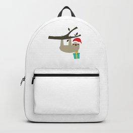 Santa Hat Christmas Gift Sloth Holiday Gift Backpack