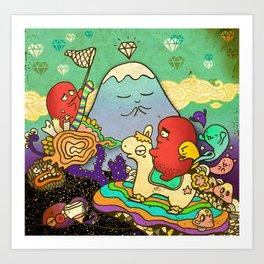 Overleap Art Print