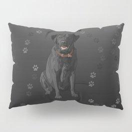 Black Labrador Retriever Paw Prints Pillow Sham