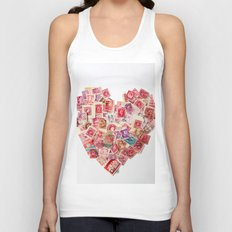 Sending Out A Love Letter - Stamps Unisex Tank Top