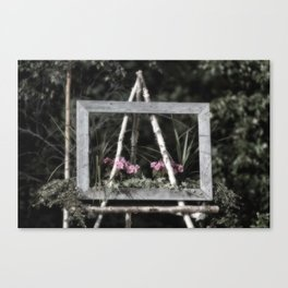Flowering Easel Canvas Print