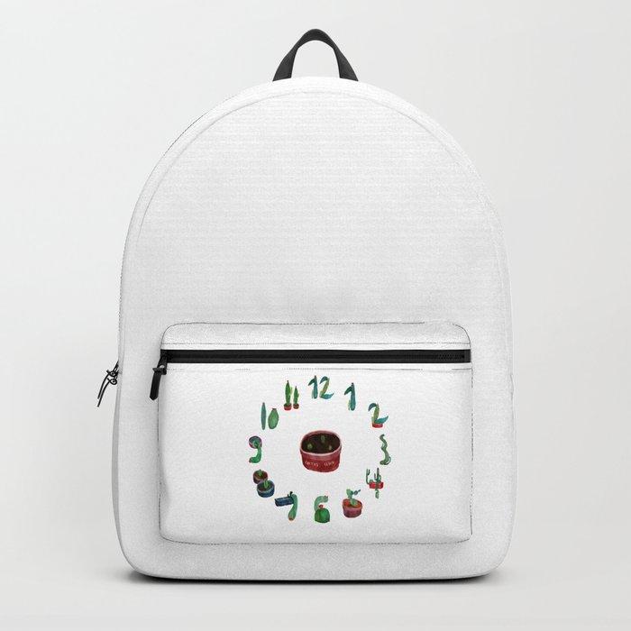 cactus clock Backpack