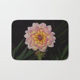 blooming pink flower Bath Mat