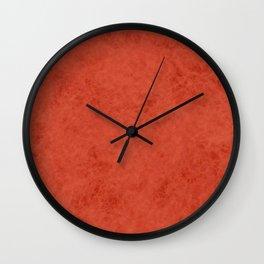 Orange suede Wall Clock