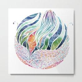 Mermaid ascending Metal Print