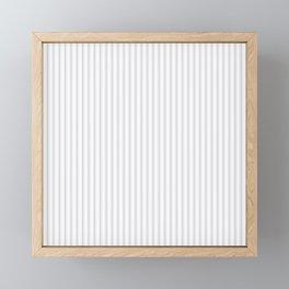 Soft Grey Mattress Ticking Narrow Striped Pattern - Fall Fashion 2018 Framed Mini Art Print