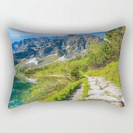 Morskie Oko mountain lake summer Tatras mountain landscape Poland Carpathians Rectangular Pillow