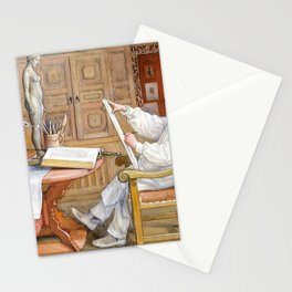 Self-portrait, In The New Studio - Carl Larsson Stationery Cards