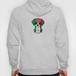Cute Puppy Dog with flag of Palestine Hoody