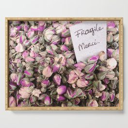 Fragile flowers, Nice France Serving Tray
