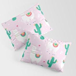 Llamas & Cactus Pillow Sham