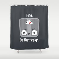 fitness Shower Curtains featuring At a Loss by David Olenick