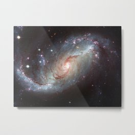 Barred spiral galaxy Metal Print