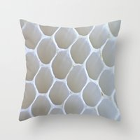 honeycomb Throw Pillows featuring Honeycomb by Ian Bevington