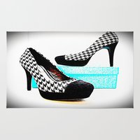 shoe Area & Throw Rugs featuring Shoe Lust by 2sweet4words Designs