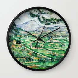 1887 - Paul Cezanne - Mont Sainte-Victoire Wall Clock