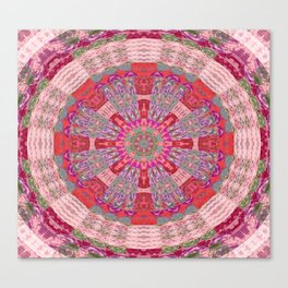Embroidery Boho Geometry Canvas Print