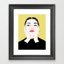 Pop Maria Callas - Yellow Framed Art Print