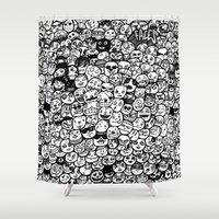 faces Shower Curtains featuring Faces by studiom6