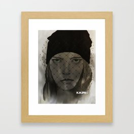 Mystery Girl Framed Art Print