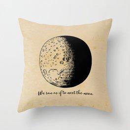 Robert Frost - Meet the Moon Throw Pillow
