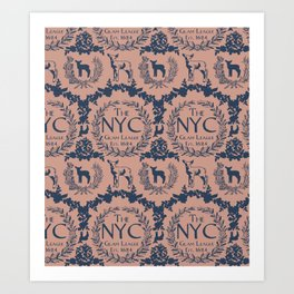 NYC Glam League Crest No. 4 Art Print