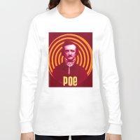 edgar allen poe Long Sleeve T-shirts featuring POE by Jon F. Allen