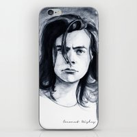 coconutwishes iPhone & iPod Skins featuring Harry Watercolors B/N by Coconut Wishes