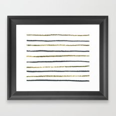 Golden Black Framed Art Print