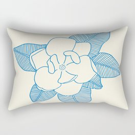 Magnolia Flower Rectangular Pillow