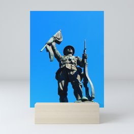 Statue Honoring Soldiers from WW1 Mini Art Print